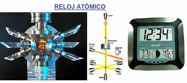 el reloj atómico