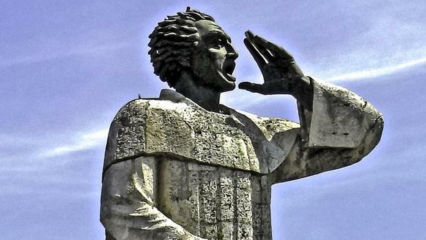Gray Montesinos da su sermón en contra del maltrató a los Indios.