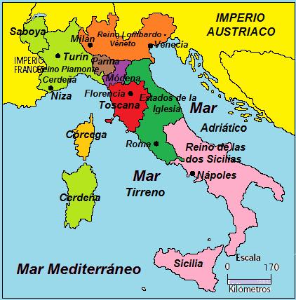 Unificación Italiana - Comienzos