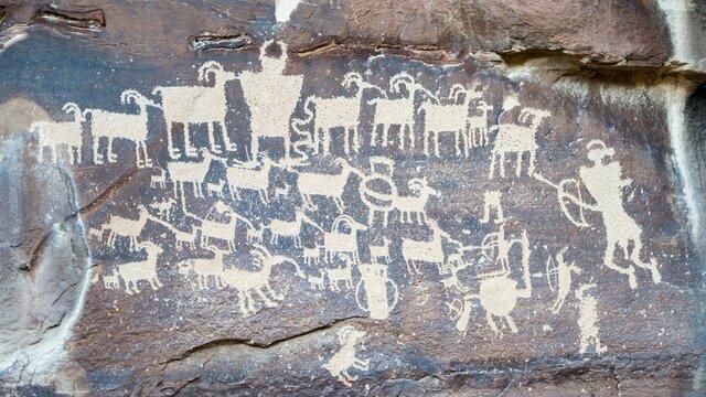 Наскальные письмена древнего человека (25-20 ТЫС. ЛЕТ НАЗАД )