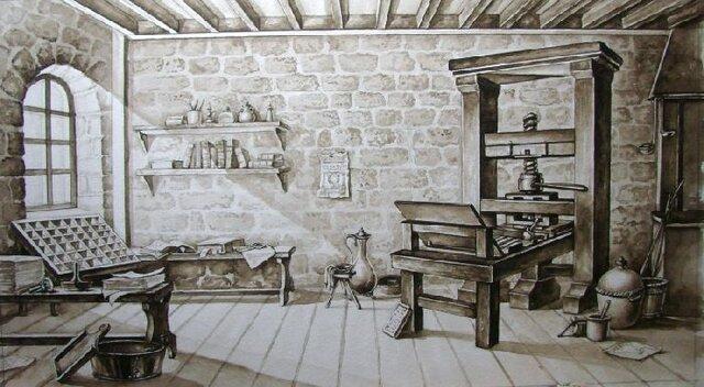 Изобретение первого печатного станка