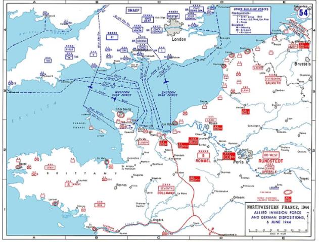 Dia D: desembarcaments aliats a Normandia, a la costa del nord de França.