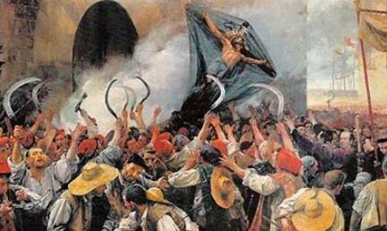 Violentas revueltas de 1640