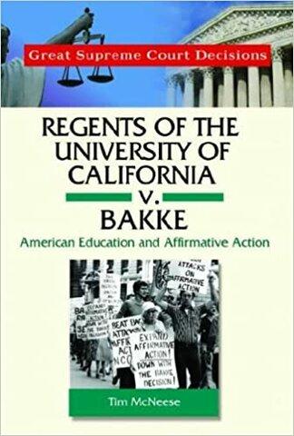 Regents of the University of California v Bakke