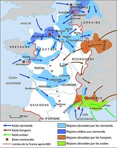 253- 275 : premières invasions des Barbares venus de l´est.
