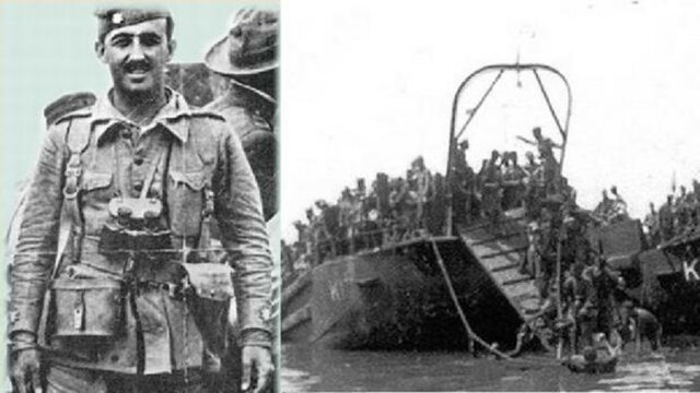 Desembarco de legionarios y regulares al mando de Franco