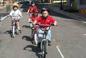 Aprendí a montar en bici