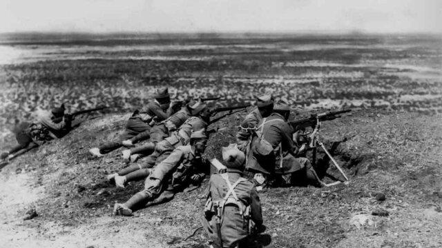 Desembarco de legionarios y regulares al mando de Franco.