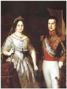 Boda de Isabel II con Francisco de Asís de Borbón.