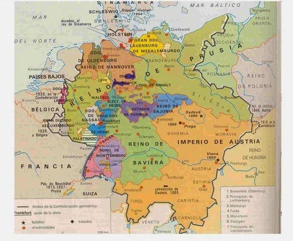 Confederación Germánica ( Unificación Alemana)