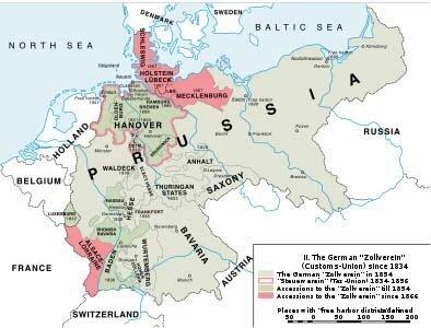 Creación de la Unión Aduanera (Unificación Alemana)