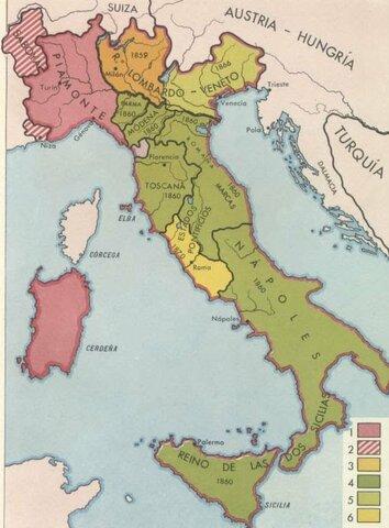 Anexión de los Estados de Parma, Modena y Toscana (Unificación Italiana)