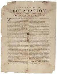 Déclaration de l'indépendance américain