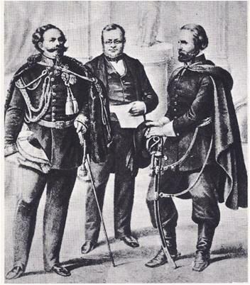 (UI) Reunión secreta del Conde Cavour (Camillo Benso) y Napoleón III en Plombiéres.