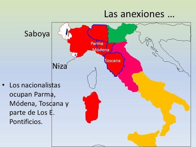 Anexión de los Estados de Parma, Modena y Toscana