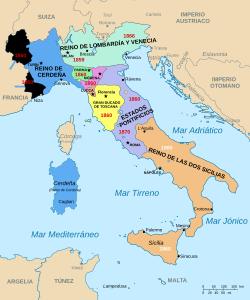 Estados italianos(Situación inicial) (Italia)