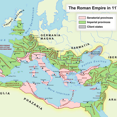 Hoofdstuk 7: Veroveraars en bestuurders van een grootrijk (tijdlijn evolutie Romeinse Rijk) timeline