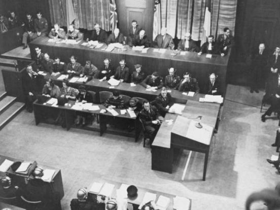 Obertura del Tribunal Militar Internacional de Nuremberg.