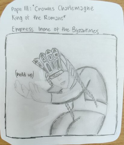 Pope Leo III not happy with Irene and her Byzantine Empire