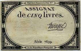 Introducció dels assignats com paper moneda