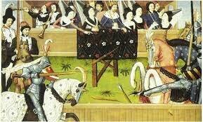 EDAD MEDIA (se realizaba la educación caballerezca:uso de espada, uso de escudo, uso de caballo;realizaban torneos) fue una época oscura.