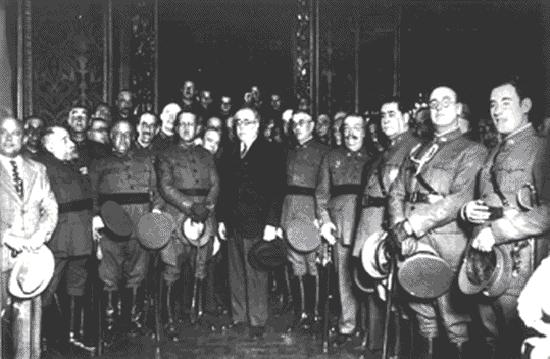 Reforma del Ejército. Ley Azaña (mes y año del inicio de las reformas)