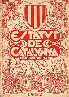 Aprobación del Estatuto de Cataluña.