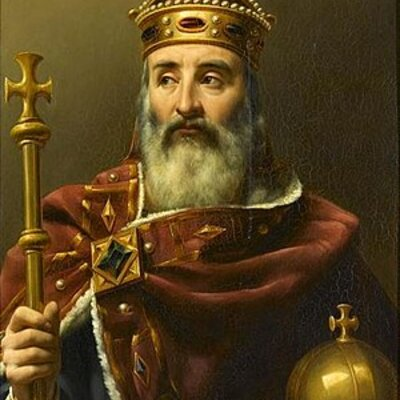 Timeline/ancestry tree about Charlemagne's family