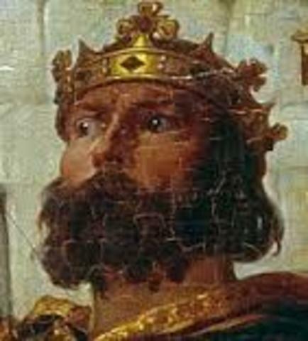 Rey de Leinster, huye de Irlanda.