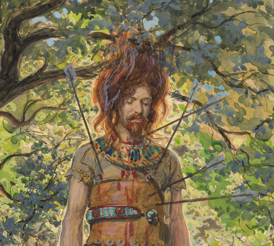 Absalom is Hanged by his Hair and Killed