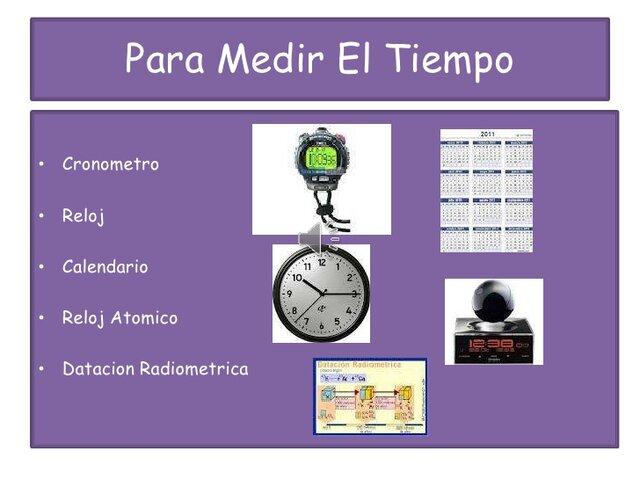 Instrumentos para medir el tiempo