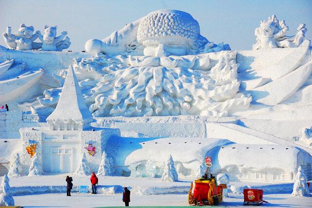 8 этап. Строительство снежного городка.
