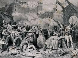 Citizens storm the Bastille