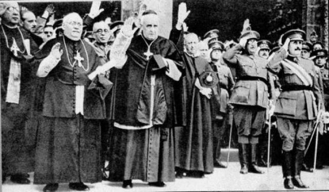 Pastoral de todos los obispos apoyando el nuevo régimen de Franco(1 de julio)