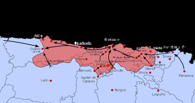 Toma de Navarra, Álava y Guipuzcoa por Mola (marzo-octubre)
