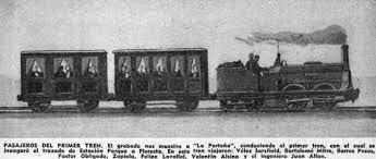 La inauguración del ferrocarril