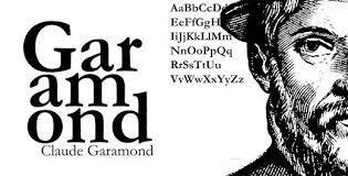 Tipografía Garamond