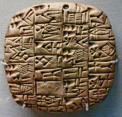 Mesopotamia y su escritura Cuneiforme