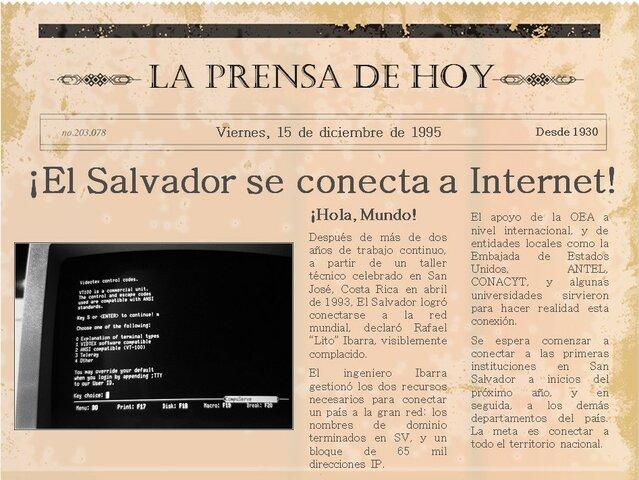 La primera conexión a internet en El Salvador (1994)