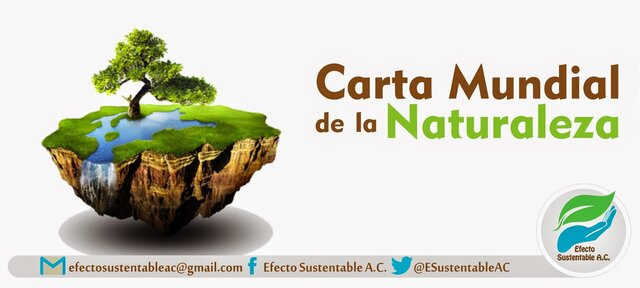 Carta Mundial de la Naturaleza.