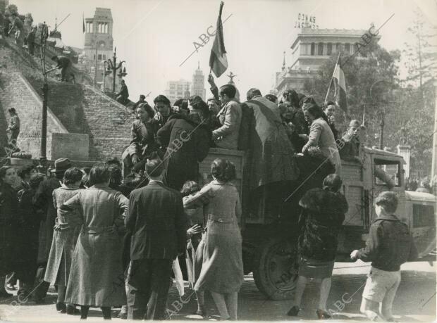 las tropas nacionales entran a Madrid