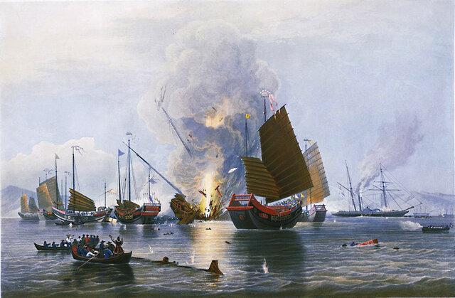 La 1ra Guerra del Opio (1839-1842).