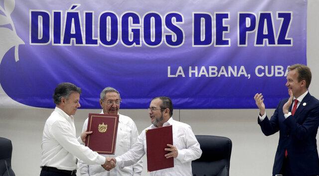 Firma del proceso de paz en colombia