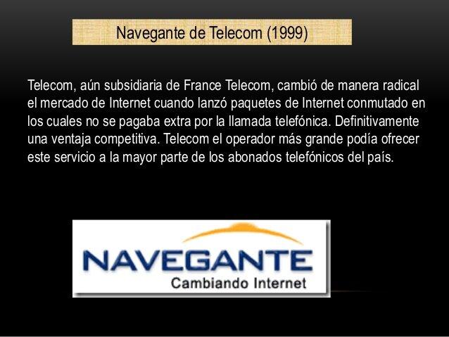 La empresa Telecom, subsidiaria de France Telecom (1999)