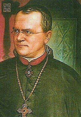 Gregor  Mendel describe las leyes basicas de la genetica a partir del estudio de guisantes.