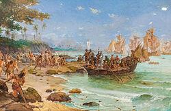 llegada del portugués en Brasil