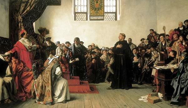 inicio de la Reforma Religiosa Protestante con Martín Lutero en Alemania
