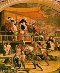 El restablecimiento de la Inquisición, que trabajó principalmente en Italia, Portugal y España.
