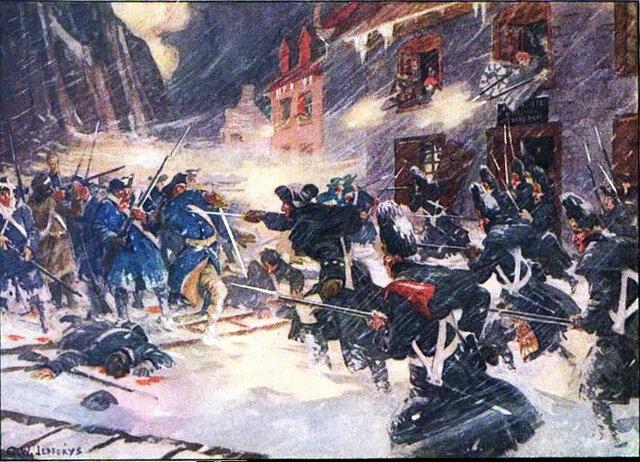 Départ des troupes révolutionnaires de la province de Québec