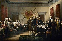Déclaration de l'indépendance américaine